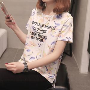 612#实拍夏季t恤女短袖宽松韩版学生百搭ulzzang上衣夏装2018新款