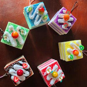 Sáng tạo Mô Phỏng Mặt Dây Chuyền Thực Phẩm Sifang Mousse Bánh Trẻ Em House House Đồ Chơi Lễ Hội Quà Tặng Quà Tặng