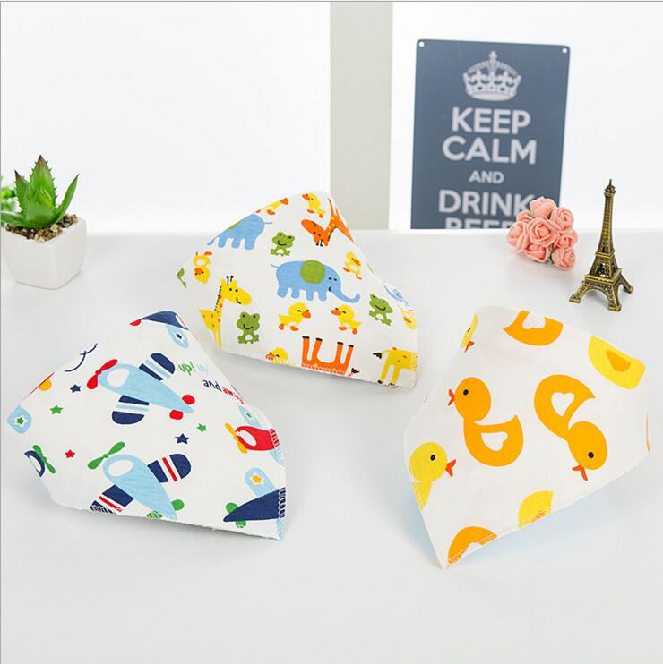 3 tải cho bé sơ sinh khăn tam giác bé bông nước miệng bé slobber snap nút bib - Cup / Table ware / mài / Phụ kiện