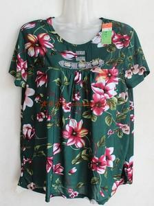 Trung niên và cũ T-shirt trung và cũ tuổi nửa tay vest của phụ nữ mẹ chất béo nạp XL nửa tay T-Shirt áo sơ mi nữ mới