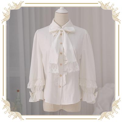 taobao agent 【Spot goods】NyaNya all-match basic Lolita original lace lantern sleeve sleeve shirt