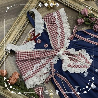 taobao agent 【Spot goods】NyaNya King Cat Travels lolita original KC apron triangle scarf small collection
