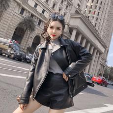 7991实拍现货女短款工装外套女超酷新款加绒加厚夹克机车服冬棉衣