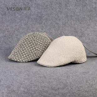 Лен ткать фуражка берет весна на открытом воздухе путешествие шляпа путешествие крышка воздухопроницаемый случайный корейский мужской и женщины волна