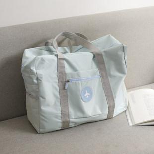 Сумка сумочку корейский короткий способ сложить тележка подожди свойство большой мощность портативный багаж мешок фитнес пакет мужской и женщины