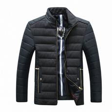 2017新款爸爸羽绒棉服男 短款厚保暖冬装外套1791