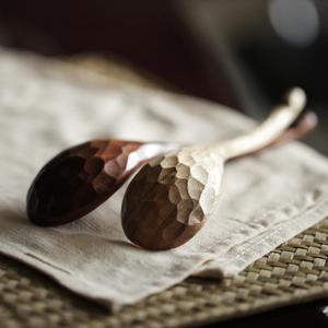 Xuất khẩu Nhật Bản rùa tự nhiên rùa thìa gỗ thìa gạo thìa chính muỗng handmade khắc