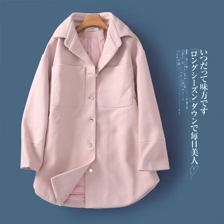 | Цена 494 руб | II10 корейский мисс пальто 2019 осенью и зимой новый отворот розовый сладкий свободные большой размеров стеганый пальто