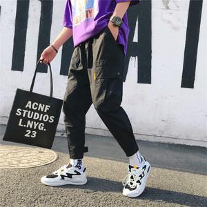 Harajuku phong cách 2018 mùa hè mới chín quần nam lỏng lẻo dụng cụ quần âu Hàn Quốc phiên bản của xu hướng hip hop quần nam