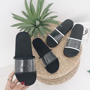 Mới từ trong suốt phẳng dưới dép nữ không trượt giày bãi biển giản dị phụ nữ dép và dép mang giày đơn giản của phụ nữ