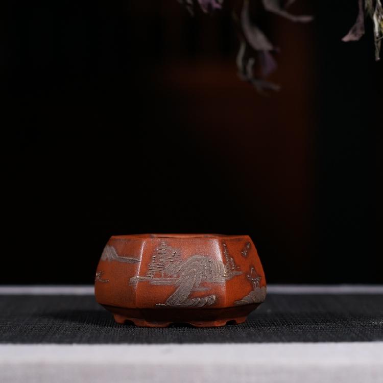 Tím cát chậu hoa boutique tím cát thịt micro hoa nồi văn hóa cuộc cách mạng cũ đối tượng antique bộ sưu tập chậu hoa đặc biệt cung cấp