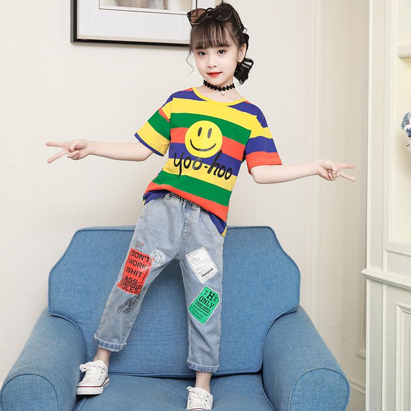 女童夏装套装2019新款5儿童夏季6大童装洋气时髦网红两件套潮8岁9_淘宝优惠券