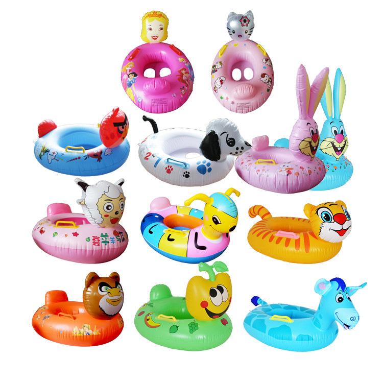 Nhà máy trực tiếp trẻ em inflatable của động vật an toàn ghế dày bảo vệ môi trường PVC bé bơi vòng ghế bán buôn