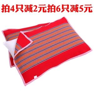 Bông cũ vải thô gối khăn dày vải thoáng khí lớn bốn mùa dành cho người lớn gối khăn số 2 là một cặp