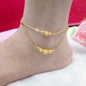 New giả Việt Nam Shajin vòng chân nữ hoang dã mạ vàng trang sức Châu Âu tệ hạt chuyển vòng chân điều chỉnh thời gian dài không phai