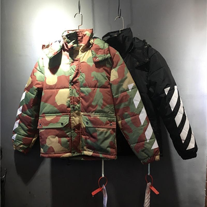 TẮT OW TRẮNG áo bông nam giới và phụ nữ xuống áo khoác dày bông quần áo quá khổ lỏng kích thước lớn vài áo khoác mùa đông