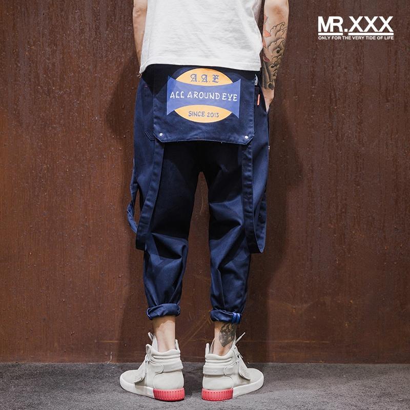 Nhật bản ban đầu có thể tháo rời bib designer xu hướng yếm của nam giới thường quần thẳng triều thương hiệu quần